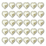 2013newestseller 30pcs Full Heart Rhinestone Buckles Sliders Cute DIY Sets