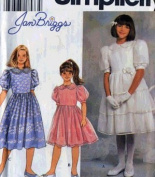 SIMPLICITY 7008 GIRLS DRESSES BY JAN BRIGGS SIZE