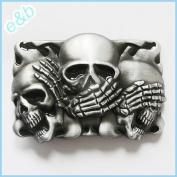 Brand:e & b NEW Casino Three Smiling Skulls Belt Buckle Cs-041bk