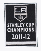 2012 Stanley Cup Final Champions Championship Banner Los Angeles Kings Opening Night Jersey Patch