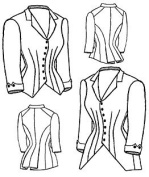 1880 Jacket Bodice Pattern