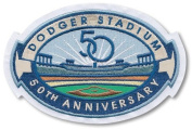 Los Angeles Dodgers 50th Anniversary 2011 MLB Baseball Jersey Sleeve Patch