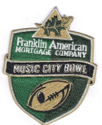 Franklin American Mortgage Company Music City Bowl Game NCAA Jersey Patch