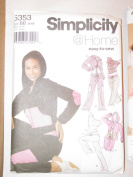 Simplicity @ Home Pattern 5353 - Juniors' and Misses' Knit Pants in Two Lengths, Skirt, Top, and Hooded Sweatshirt - Size BB