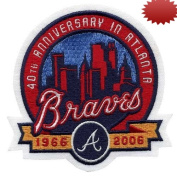 2006 Atlanta Braves 40th Anniversary Patch - Official MLB Licenced