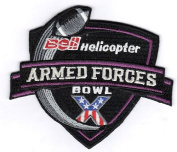 2012 Bell Helicopter Armed Forces Bowl Game Patch 'X' 10th Anniversary Rice vs. Air Force