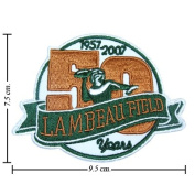 3pcs Lambeau Field 50 Years Anniversary 2007 Iron on Patches Kid Biker Band Appliques for Jeans Pants Apparel Great Gift for Dad Mom Man Women. From Thailand - High Quality Embroidery Cloth & 100% Customer Satisfaction Guarantee