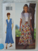 Butterick Fast & Easy Pattern 4524 Misses' Petite Vest, Top & Skirt