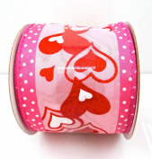 Jo-ann's Holiday Inspirations Pink Hearts Ribbon,red Glitter,polka Dots,6.4cm x 12ft