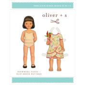 Oliver S Pinwheel Tunic & Slip Dress Sewing Pattern Child's dress sizes range from