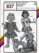 Stretch & Sew Pattern 837 ~ Infant Skimmer Dress & Vested Pullover Top ~ Preemie-36 Mos