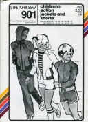 Stretch & Sew Pattern 901 ~ Children's Action Jackets and Shorts ~ Chest 21-27 / Hip 22-28