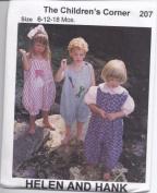 Helen and Hank Sewing Pattern # 207 by Children's Corner Sizes 6 - 12 - 18 Months