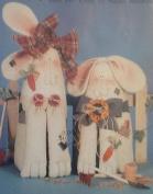 Hops & Lops 18cm & 25cm Folk Art Rabbits - Sewing Pattern- HL54