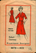 M176 - Misses Dress Pattern by Robert Courtney - Size 12