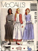 McCalls 6135 Sewing Pattern Jumper Blouse Petticoat Size C