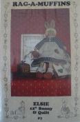 Rag-A-Muffins Elsie 30cm Bunny Doll & Quilt Designed by Sam Niehaus #7