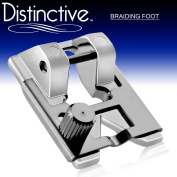 Distinctive Braiding Sewing Machine Presser Foot - Fits All Low Shank Snap-On Singer*, Brother, Babylock, Euro-Pro, Janome, Kenmore, White, Juki, New Home, Simplicity, Elna and More!