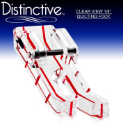 Distinctive Clear View 2.5cm - 10cm Quilting/Sewing Machine Presser Foot - Fits All Low Shank Snap-On Singer*, Brother, Babylock, Euro-Pro, Janome, Kenmore, White, Juki, New Home, Simplicity, Elna and More!