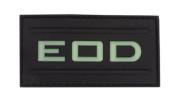 EOD Glow in the Dark PVC hook and loop Patch - Black