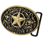 Bronze Texas Lone Star Western Rodeo Southern Metal Vintage Style Belt Buckle