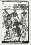 Ann Person Collectibles Stretch & Sew Pattern 1578 ~ The Traveller Dress, Skirt & Top ~ Many Looks ~ Bust 30-46