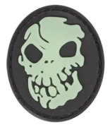 Skull Glow in the Dark PVC Matrix hook and loop Morale Patch