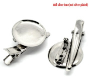 Small Silver Tone Brooch Hair Pin Clip Accessories Finding (20 Pieces) from Cosmetic Counter