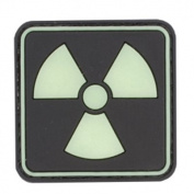 Atomic 20mm Glow in the Dark PVC Matrix hook and loop Morale Patch