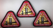 Star Trek STARFLEET ACADEMY 7.6cm Logo (Set of 3) PATCHES