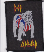 Def Leppard Bulldog Rare Iron on Embroidered Music Patch