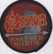 Saxon Rock Music Patch -Innocence is No Excuse