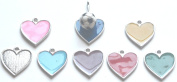 6pc Soccer Ball Zipper Pull w/ Coloured Heart - Light Blue (Brand New) - Pack of 6