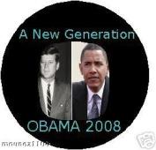 Barack OBAMA is the NEW JFK Kennedy Prez BUTTON 2008