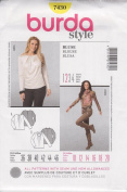 Burda Style Pattern 7430 for Blouse in Sizes 10 - 20