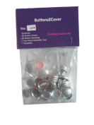 Buttons2Cover Crafter's Starter Pack Cover Buttons Size 30 (1.9cm ) Flat Back