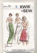 Kwik Sew Ladies Half Slip in Three Lengths Sewing Pattern #716