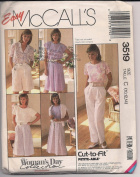 McCall's Vintage Sewing Pattern 3519 Woman's Day Collection Misses Pull-on Skirt, Culotte and Pants Size C (10, 12, 14) and Petite