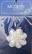 Modern Romance Decorative LACE FLOWER Fashion APPLIQUE w Sequin & Faux Pearls