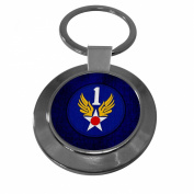 Premium Key Ring with U.S. 1st Air Force, plaque