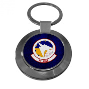 Premium Key Ring with U.S. Air Force 1st Airborne and Control (1st ACCS),