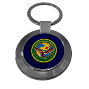 Premium Key Ring with U.S. Central Command, Operation Enduring Freedom (OEF) Patch