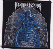 Resurrection Embalmed Existence 1993 Rare Iron on Embroidered Music Patch