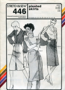 Stretch & Sew Pattern 446 ~ Pleated Skirts ~ Hip 30-46