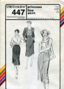 Stretch & Sew Pattern 447 ~ Princess Line Skirt ~ Hip 30-46