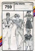 Stretch & Sew Pattern 759 ~ Ladies' City Shorts ~ Hip 32-48