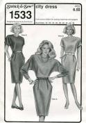 Stretch & Sew Women's Pattern 1533 ~ City Dress ~ Bust 30-46