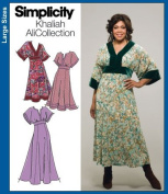 UNCUT & OOP SIMPLICITY 4050 KHALIAH ALI COLLECTION PLUS SIZE WOMEN'S DRESSES SIZE