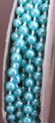 Welcome Home Craft Trim SPOOL of moulded PEARLS on a STRING Colour SEA MIST 6 FEET Long
