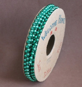 Welcome Home Shiny Green Stringed Faux Pearls (Bead) Trim